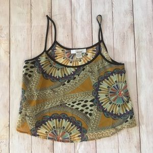 Sans Souci | Patterned Crop Tank Top